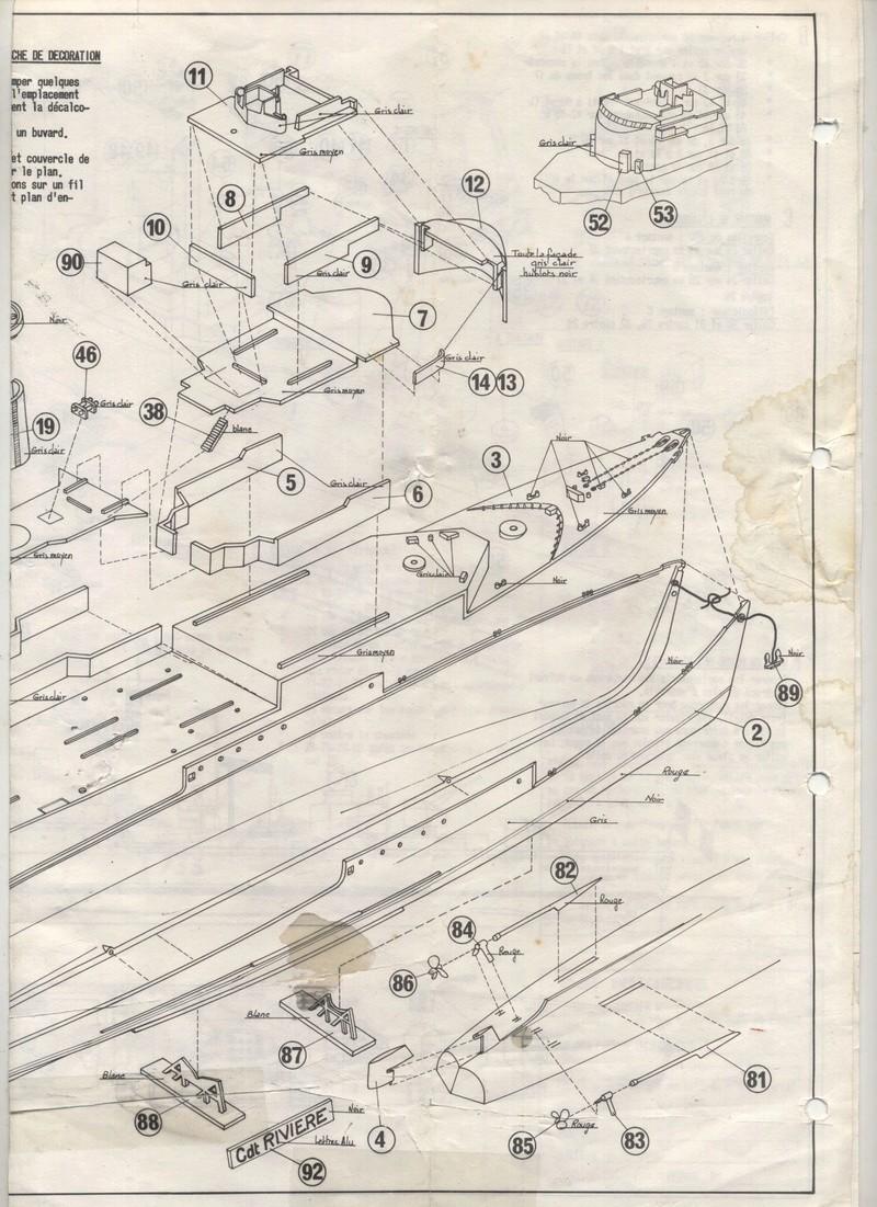 AVISO COMMANDANT RIVIERE - HELLER - 1/400 - REF : L 538 - NOTICE  Maquet52