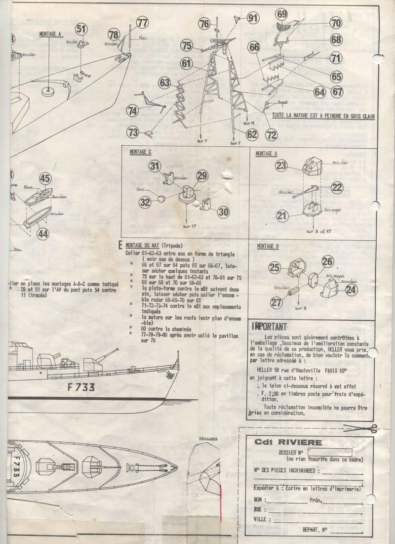 AVISO COMMANDANT RIVIERE - HELLER - 1/400 - REF : L 538 - NOTICE  Maquet54