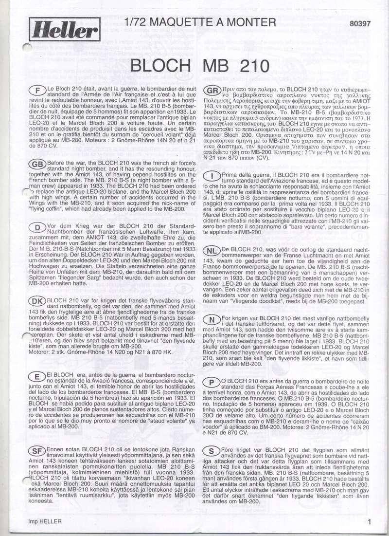 BLOCH MB 210 - HELLER - 1/72 - REF : 80397 - NOTICE  Notic121