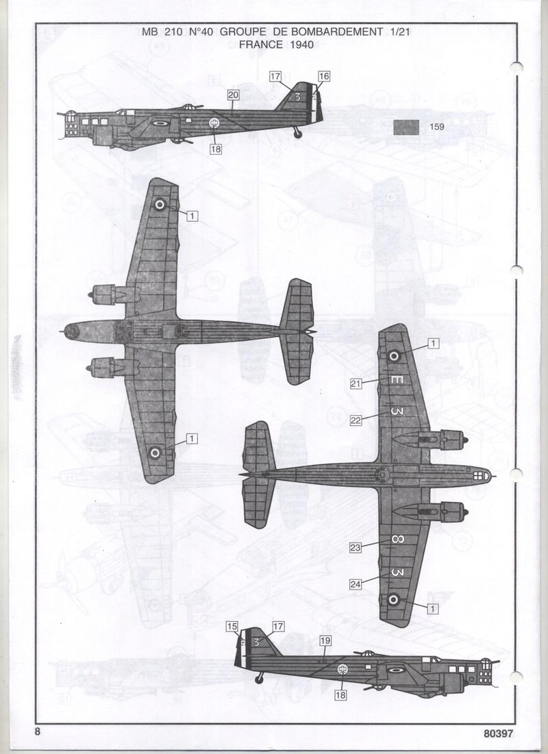 BLOCH MB 210 - HELLER - 1/72 - REF : 80397 - NOTICE  Notic123