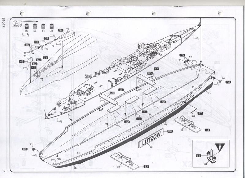 Croiseur lourd LUTZOW 1/400ème Réf 81047 Notice Notic160