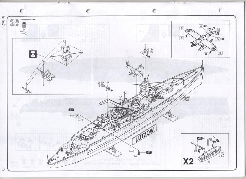 Croiseur lourd LUTZOW 1/400ème Réf 81047 Notice Notic161