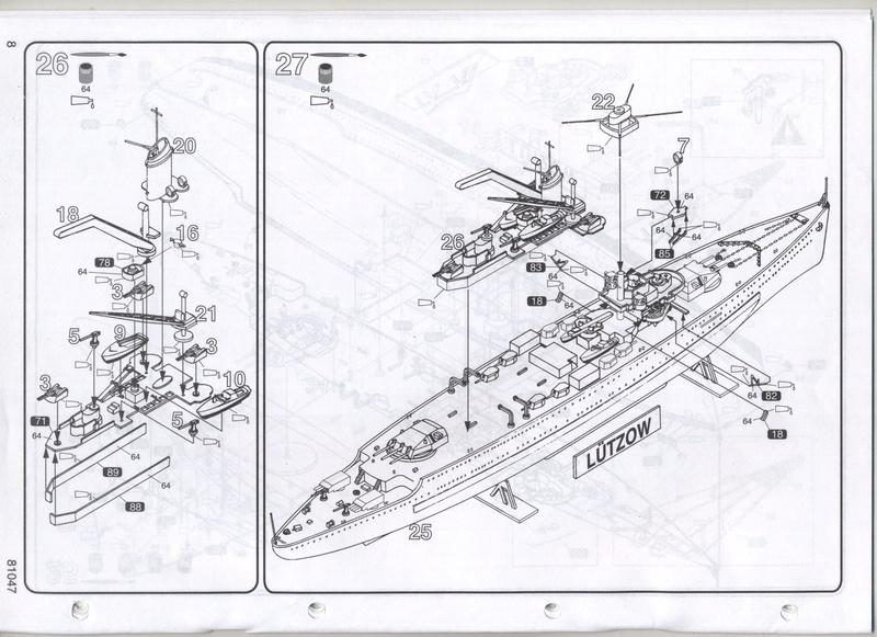 Croiseur lourd LUTZOW 1/400ème Réf 81047 Notice Notic163