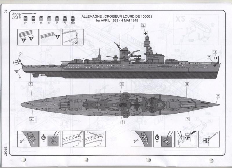 Croiseur lourd LUTZOW 1/400ème Réf 81047 Notice Notic164