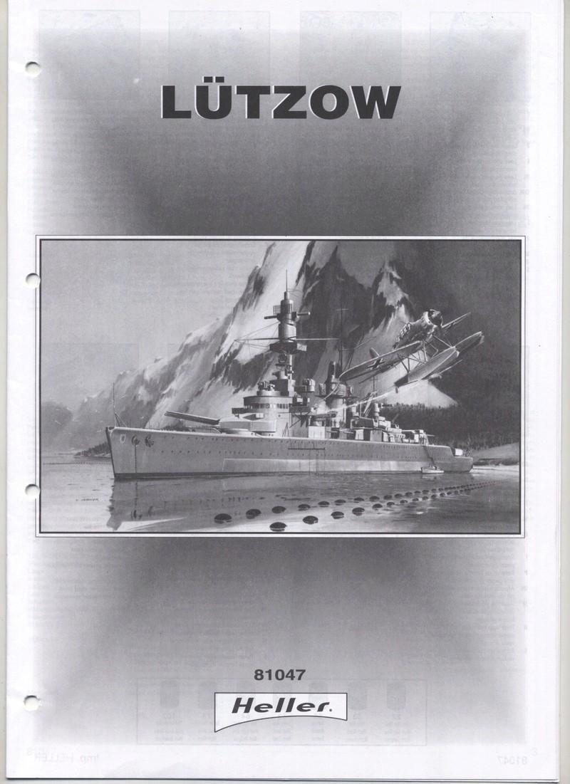 Croiseur lourd LUTZOW 1/400ème Réf 81047 Notice Notic169