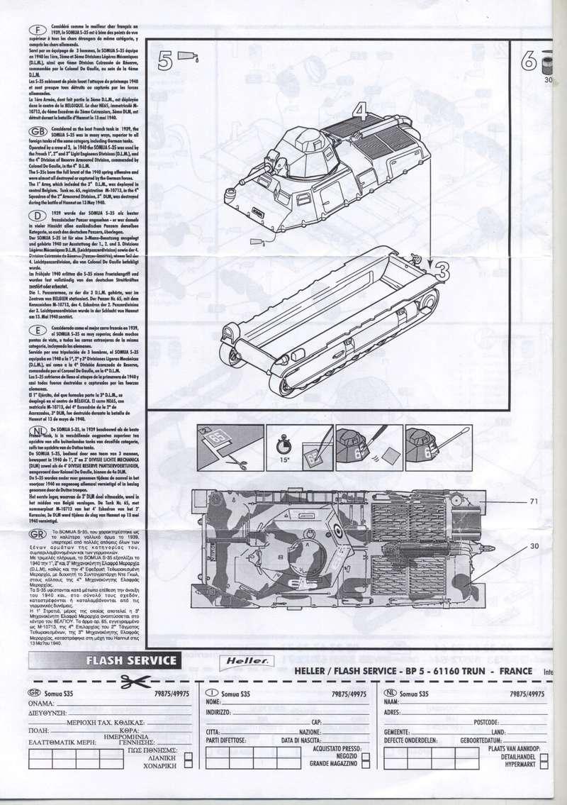 SOMUA S35 1-72 REF : 79875/49975 NOTICE REEDITION Notice13