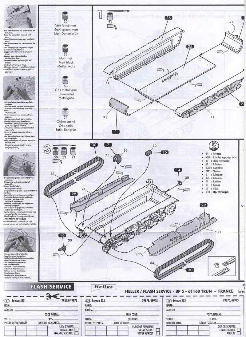 SOMUA S35 1-72 REF : 79875/49975 NOTICE REEDITION Notice14