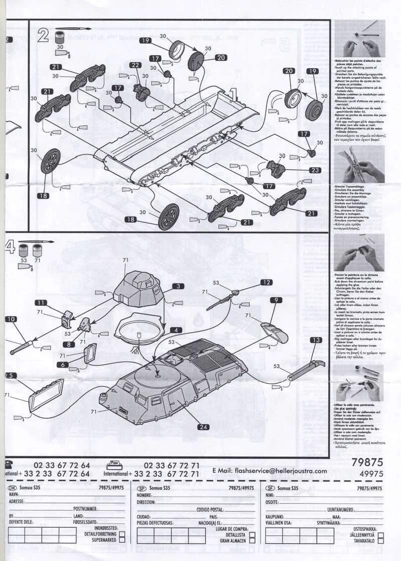 SOMUA S35 1-72 REF : 79875/49975 NOTICE REEDITION Notice15