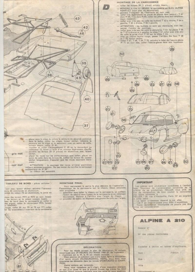 ALPINE A210 PROTOTYPE - 1/24 - REFERENCE : L735 - NOTICE  Notice27