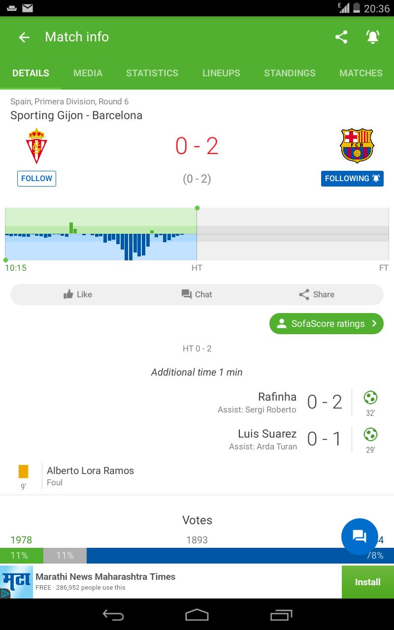 La Liga: Sporting Gijon vs FC Barcelona Screen11