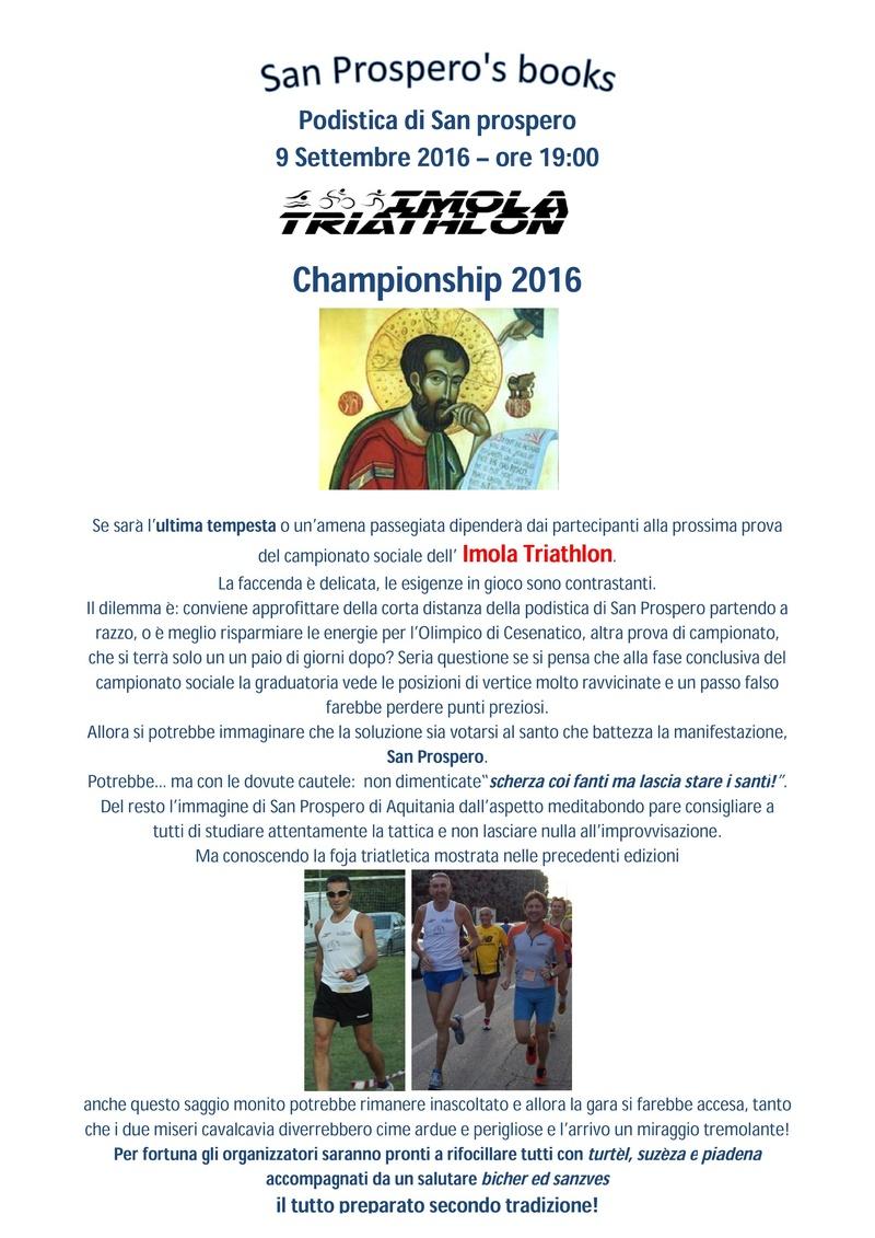Campionato sociale 2016 - 11° Prova - Venerdi 9/09/2016 - Podistica di San Prospero San_pr10