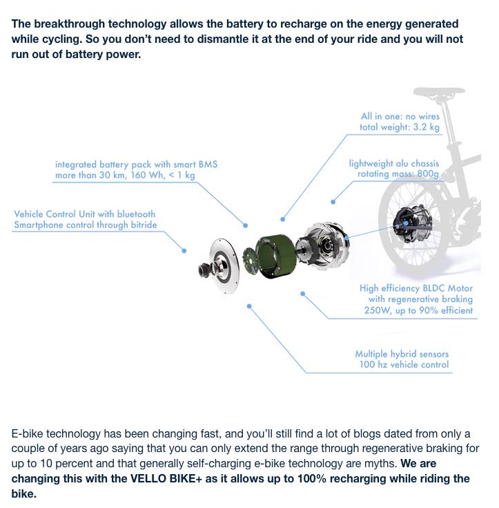 """Vello Bike + : charge par énergie cinétique [""""Brompton électrifié""""] 2w_vel11"""