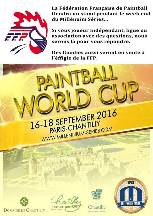 Fédération Française de Paintball: Stand au Millénnium Séries Chantilly 16  Ffpms110