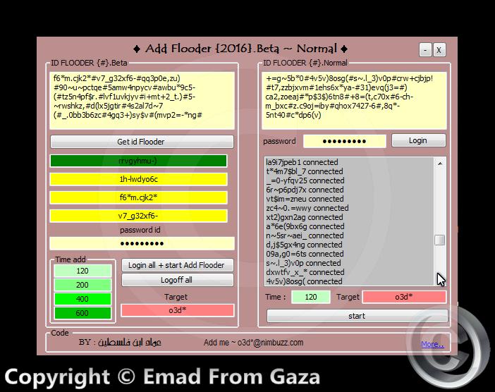 Nimbuzz: Add Flooder 2016 Normal + Beta Ashamp21