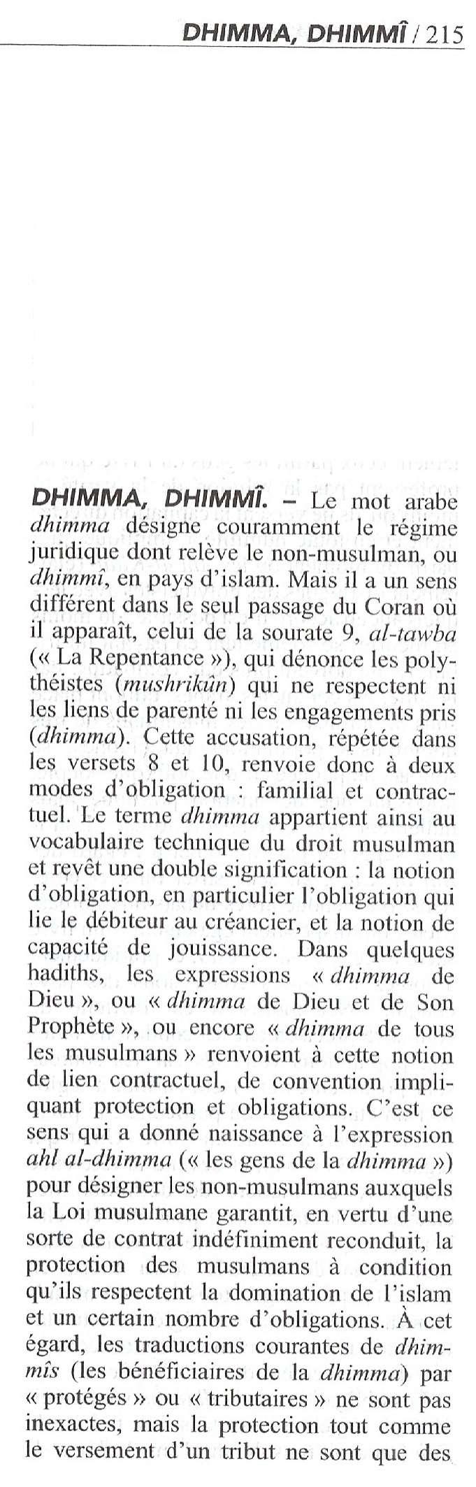 """Barbara Lefebvre (Le Figaro) : """"Comment l'islam est abordé dans les manuels scolaires"""" - Page 11 Dhimma10"""