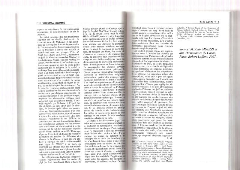 """Barbara Lefebvre (Le Figaro) : """"Comment l'islam est abordé dans les manuels scolaires"""" - Page 11 Dhimma11"""