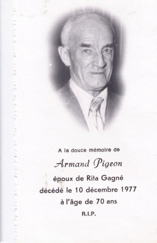 Pigeon, Armand Armand10