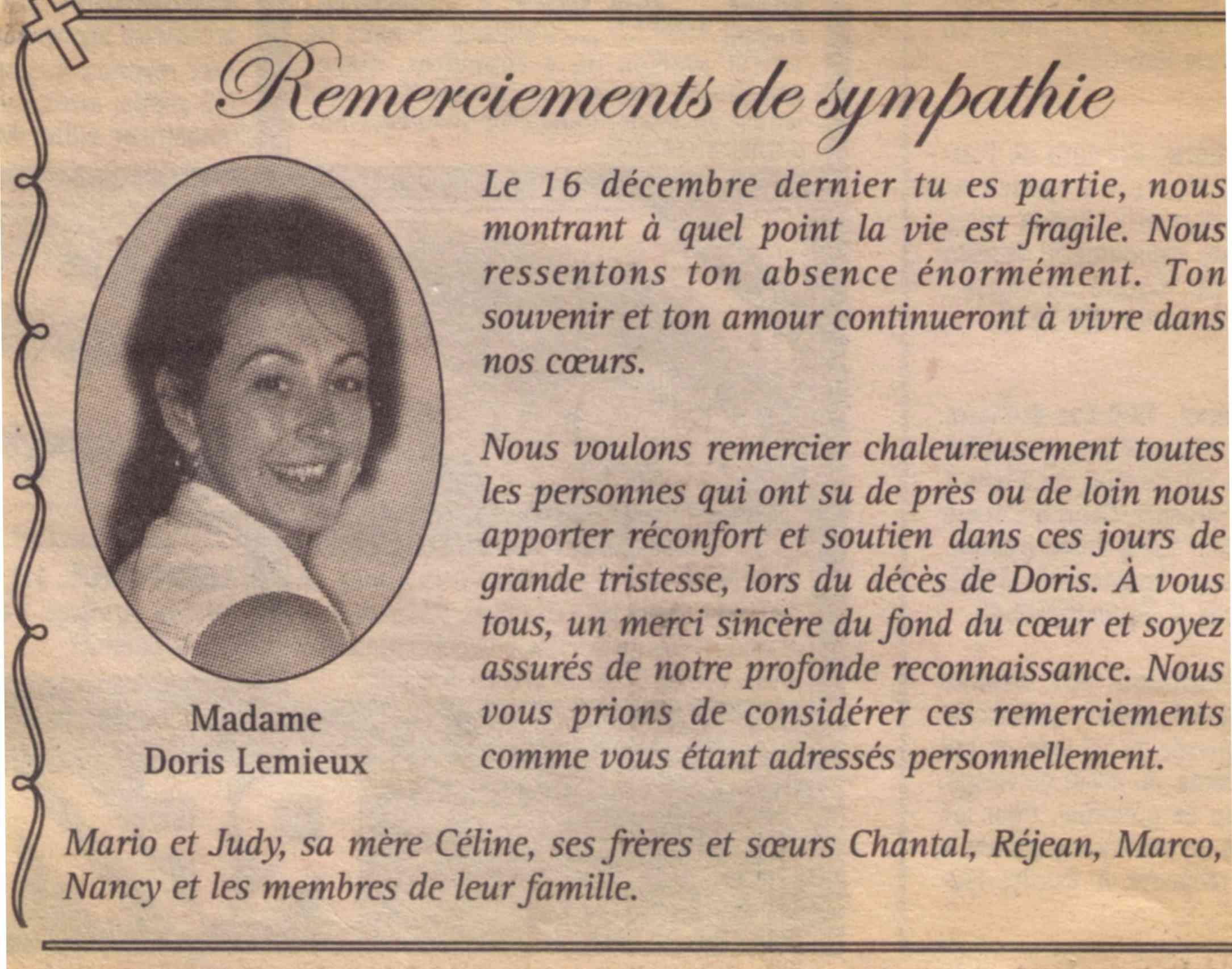 Lemieux, Doris Remerc10