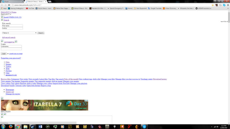 Nexus pages not loading properly. 20160910