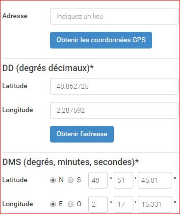 Un convertisseur de Coordonnées GPS Conver10