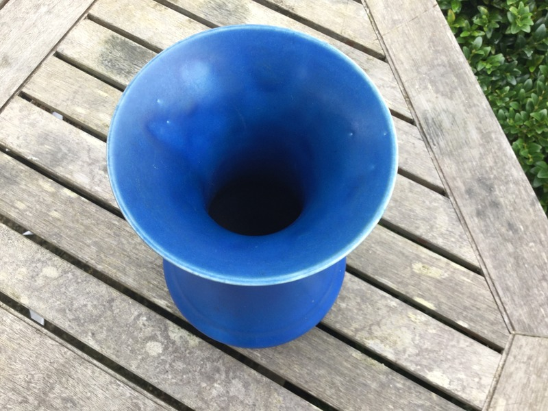 Royal Lancastrian / Mintons / Clews? - blue vase Image_14