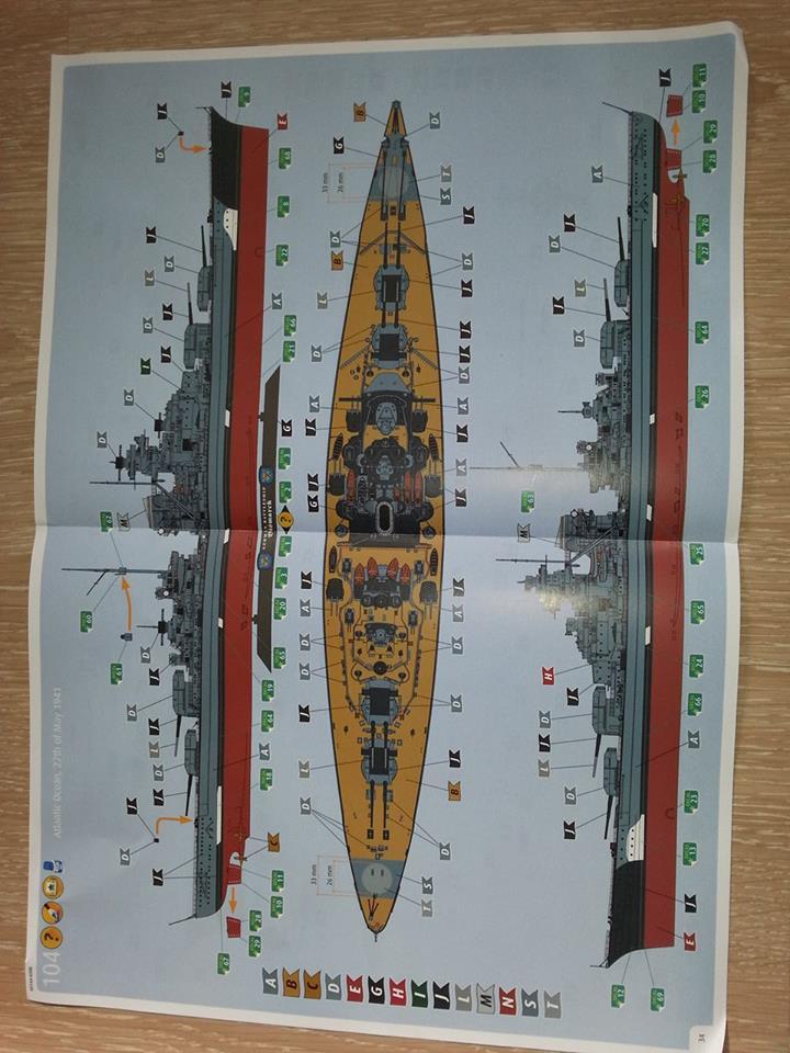 Revell Bismarck 05144 in der Platinum Edition 1:350 mit 2085 Teilen 1010