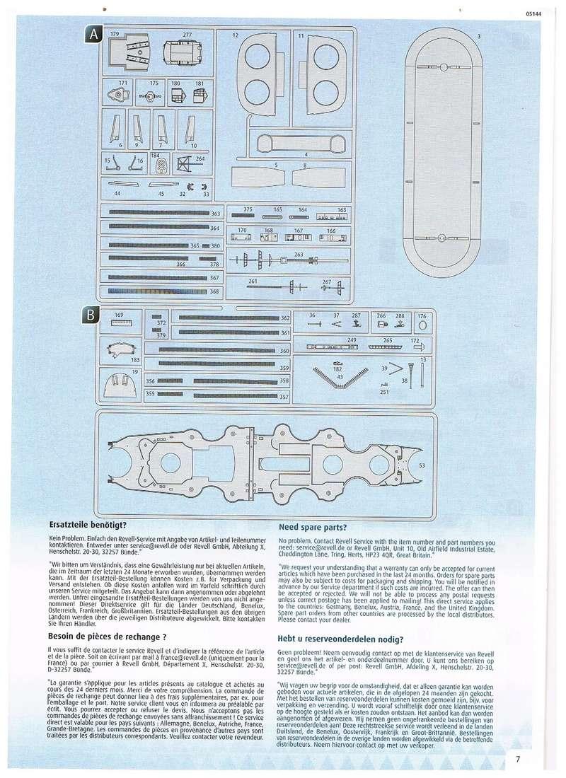 Revell Bismarck 05144 in der Platinum Edition 1:350 mit 2085 Teilen S610