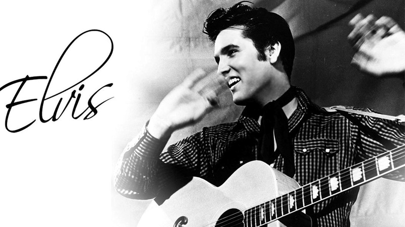 """Elvis Presley The Controversial King Of Rock And Roll that capitalised on Black folk music from the deep south.  In Elvis's own words """"The colored folks been singing it and playing it just like I'm doin' now, man, for more years than I know 070a6710"""