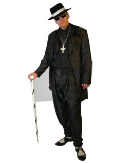 Zoot Suit: The fashion started by African American men and overtime grew popular with white and mexican men.  Once seen by many white and mexican parents as gangsta fashion 11322-13