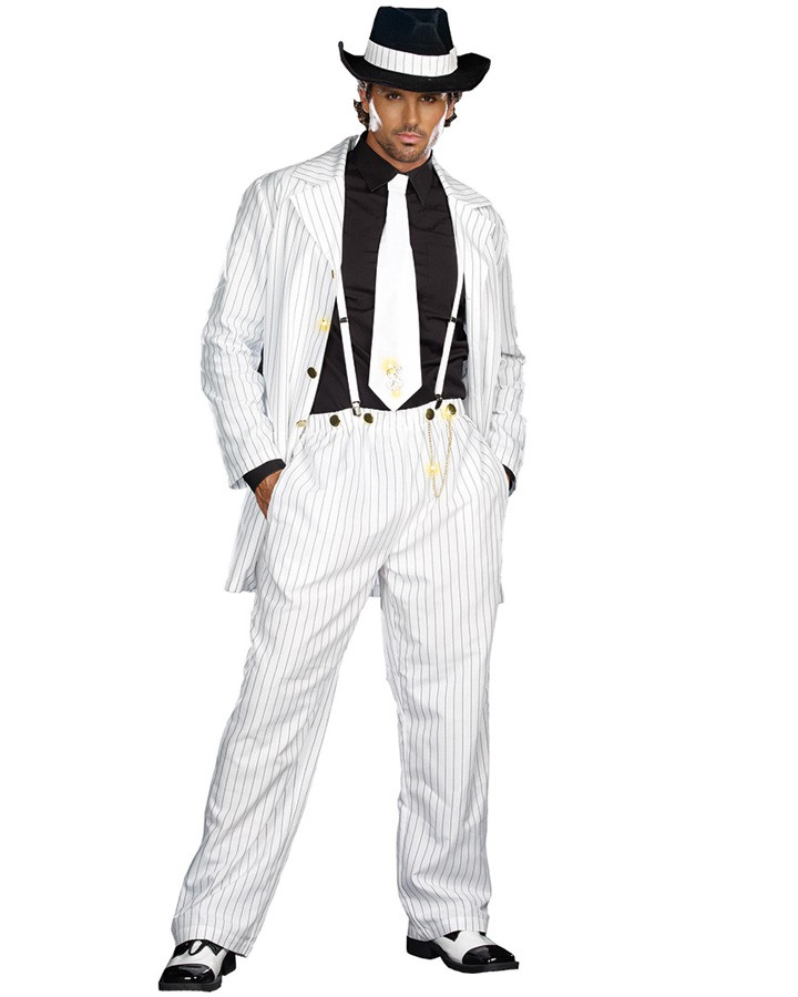 Zoot Suit: The fashion started by African American men and overtime grew popular with white and mexican men.  Once seen by many white and mexican parents as gangsta fashion 8105-z12