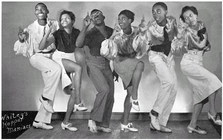 1912 To 1940s dances: The swing, charleston, cake walk, the blues, the break away AND Jitterbug Lindy110