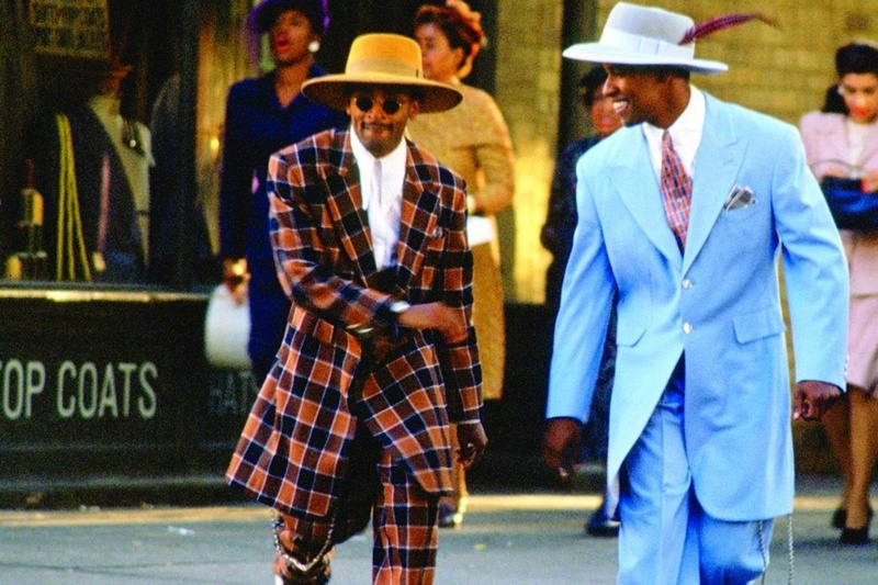 African American Male Trend: The Zoot Suit known to many were first designed by African American tailors/entrepreneurs:  Known for its extravagant design, and was worn by African American  jazz singers and trumpeters entertainers: and swing dancers that w Spike-10