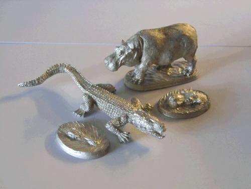 Tireurs zanzibaris et Hippopotames. 31-03310