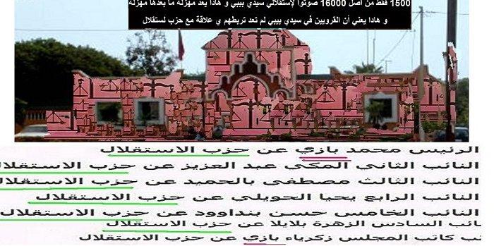 L'echec cuisant des Istiqlaliens de Sidi bibi الاستقلال يفقد  رصيده الشعبوي Image112