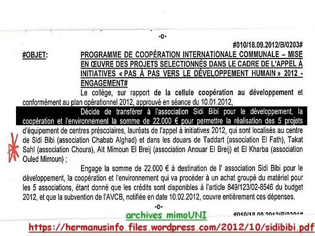 Sidi Bibi victime ou bourreau de la Commune Belge Jette Jette210