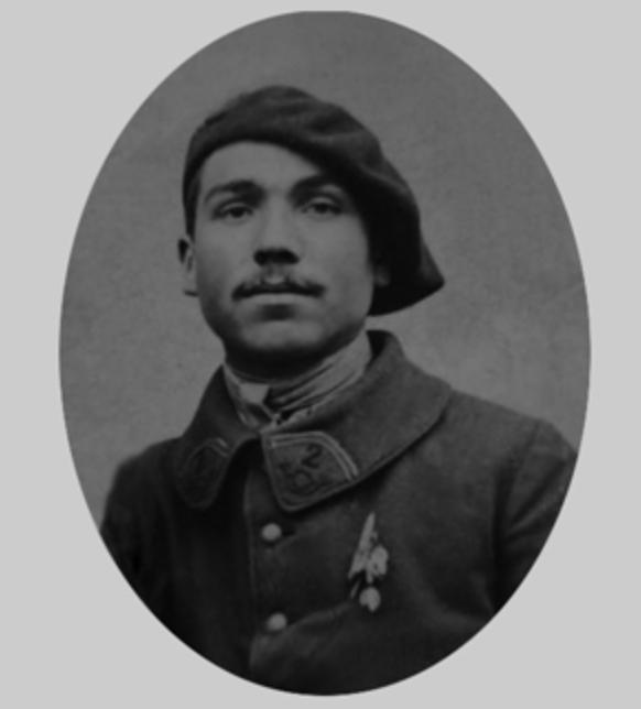 Georges Labroche du 19° B.C.P. 3ème clairon de l'Armistice. Gl210