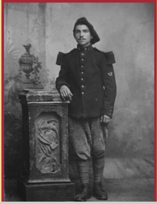 Georges Labroche du 19° B.C.P. 3ème clairon de l'Armistice. Gl310