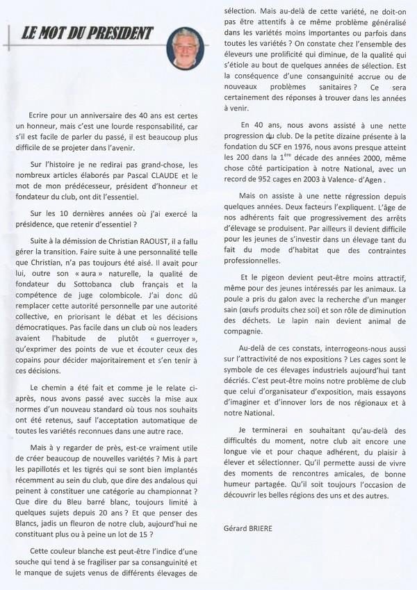 Le Sottobanca Banca Club Français fête  ces 40 ans (1976 - 2016 )  par Mr Pascal CLAUDE Sans_t13