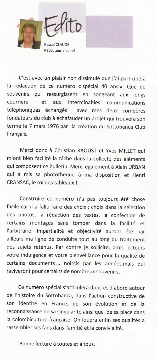 Le Sottobanca Banca Club Français fête  ces 40 ans (1976 - 2016 )  par Mr Pascal CLAUDE Sans_t14