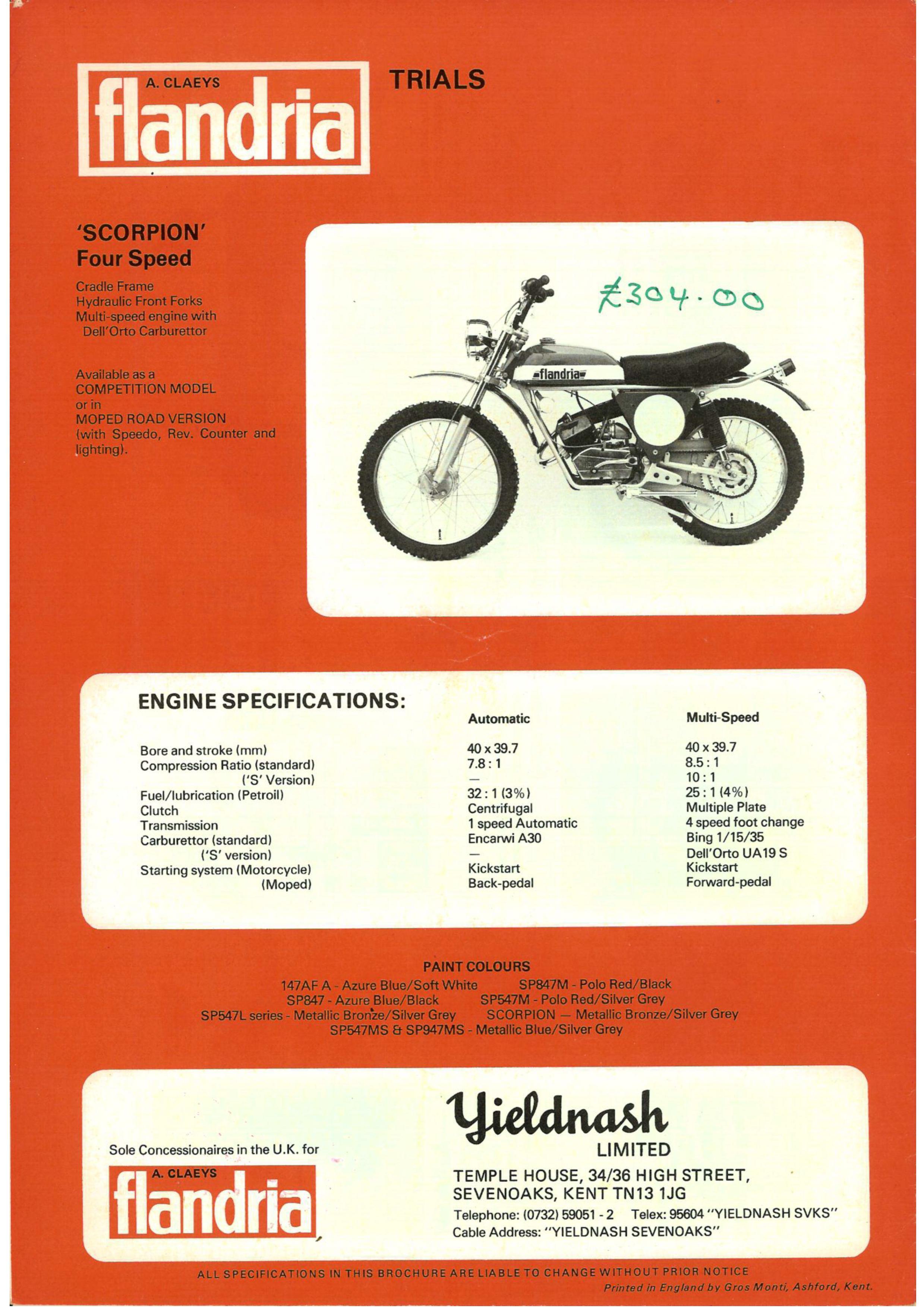 FLANDRIA SCORPION Flandr66