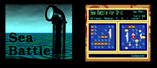 Sea Battle - nouveau jeu pour Oric - encore par RAX Seabat10