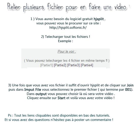 [FANSUB] Relier plusieurs fichiers pour en faire une vidéo 1relie10