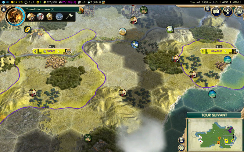 Récit de partie narratif: Civilisation égyptienne Dixiee10