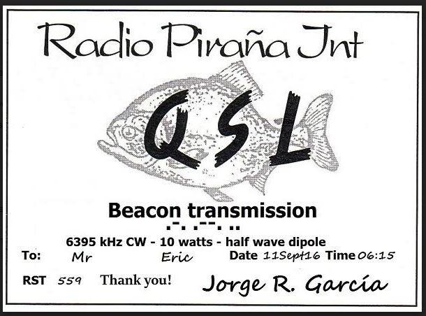 eQSL Radio Pirana BEACON Pirana10