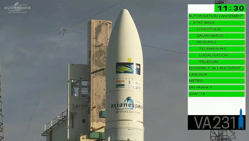 Lancement Ariane 5 ECA VA231 / GSAT-18 & Sky Muster 2 - 4 octobre 2016 - Page 3 Screen71