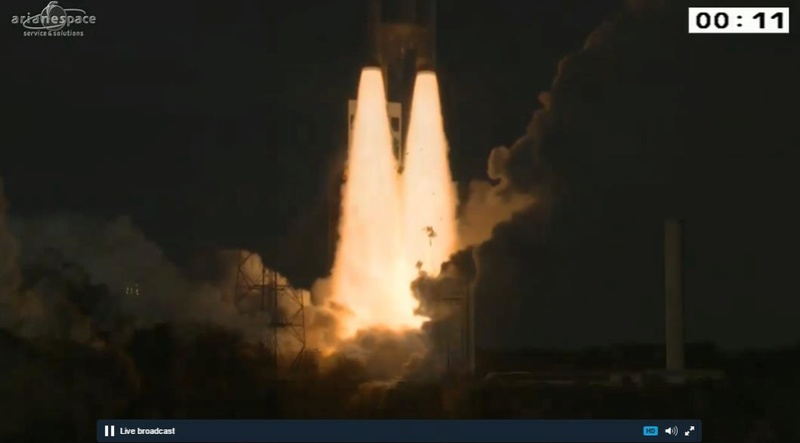 Lancement Ariane 5 ECA VA231 / GSAT-18 & Sky Muster 2 - 4 octobre 2016 - Page 3 Screen73