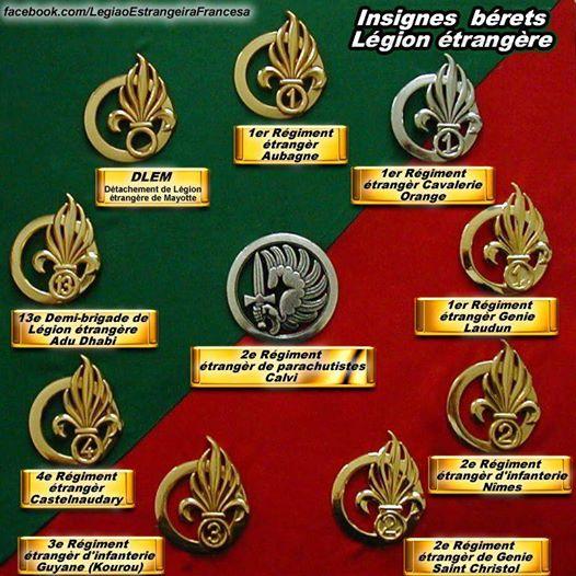 INSIGNES DES BERETS DE LA LEGION 13716110