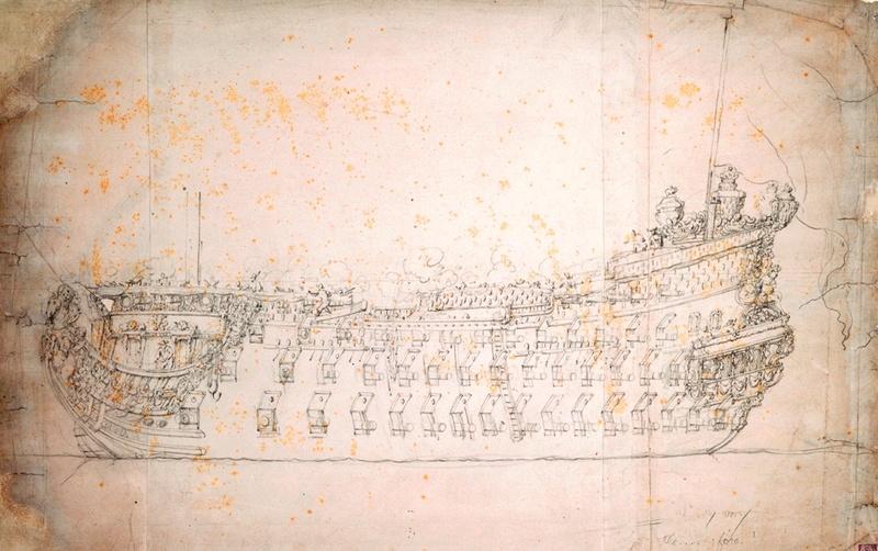 La Reine - vaisseau de premier rang au 1/90 ème La_rey10