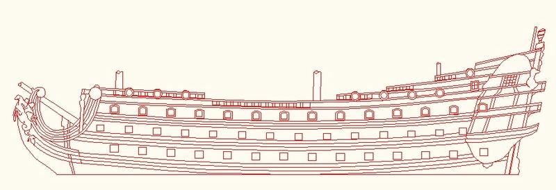 La Reine - vaisseau de premier rang au 1/90 ème Sr11
