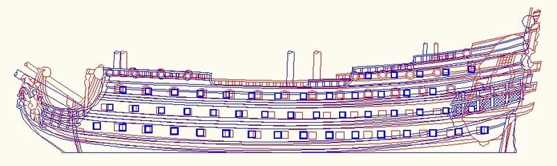 La Reine - vaisseau de premier rang au 1/90 ème Srrd11